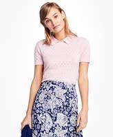 light pink short sleeve sweater - ShopStyle