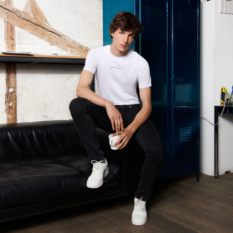 Sandro T-shirt with logo embroidery