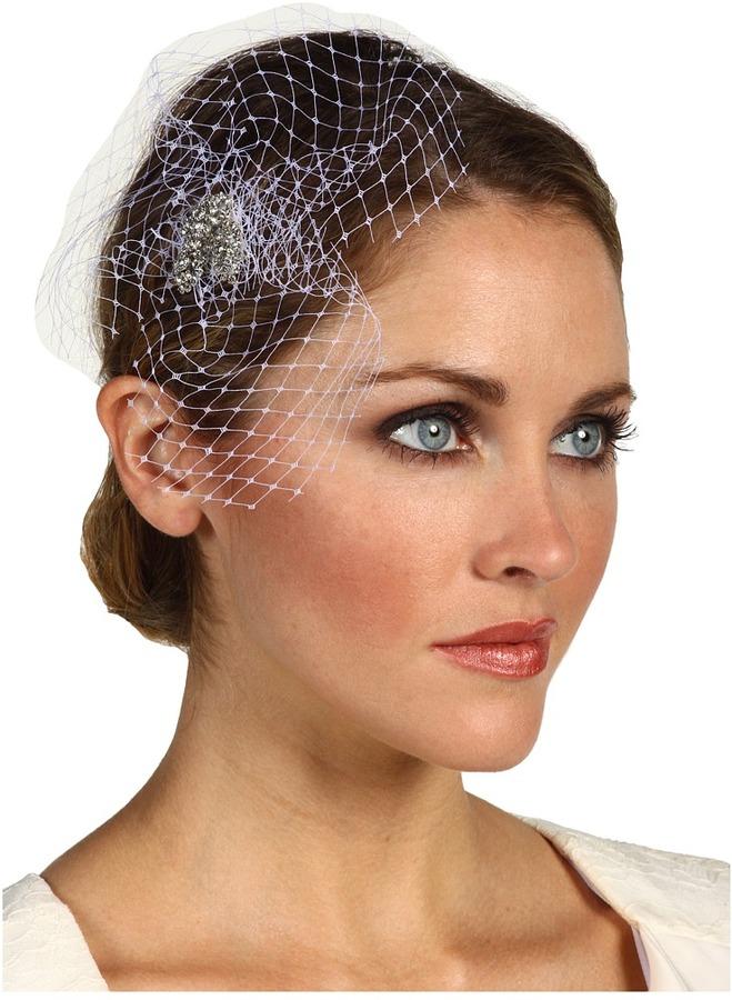 Nina Cerise Demi Birdcage Veil (White Veil) - Accessories