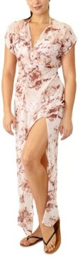 Miken Juniors' Marble-Print Maxi Cover-Up, Created for Macy's Women's Swimsuit