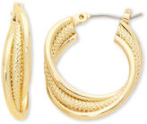 Liz Claiborne Gold-Tone, Twisted Hoop Earrings