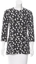 Dolce & Gabbana Floral Print Three-Quarter Length Sleeve Top