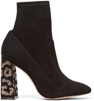 Sophia Webster Embellished Suede Ankle Boots