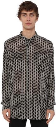 Balmain Over Print Monogram Light Cotton Shirt