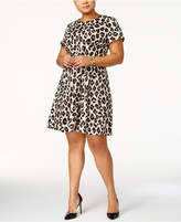 Jessica Howard Plus Size Printed Fit and Flare Dress