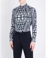 Etro Aztec Zebra-print Regular-fit Cotton Shirt