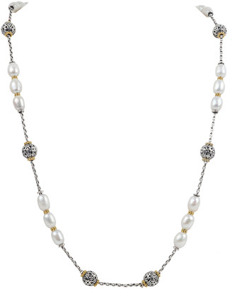 Konstantino Kleos Pearl-Trio Long Necklace w/ 18k Gold