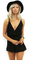 West Coast Wardrobe Dancing Queen Deep V Romper in Black