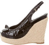 Christian Dior Cannage Espadrille Wedges