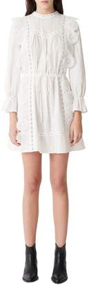Maje Ravia Lace Cotton Mini Dress