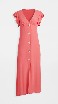 BB Dakota That's Amore Button Front Midi Dress