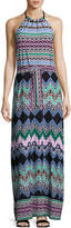 Laundry by Shelli Segal Tied-Knot Print Maxi Dress, Multipattern