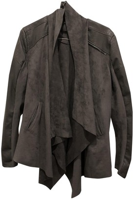 Blank NYC Grey Leather Jacket for Women
