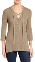 MICHAEL Michael Kors Women's Lace-Up Tunic Sweater