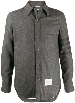 Thom Browne 4-bar Snap Front Shirt Jacket
