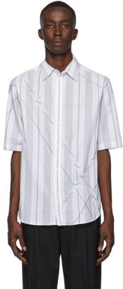 3.1 Phillip Lim White and Black Argyle Patchwork Shirt