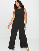 ELOQUII Plus Size Lace Up Back Jumpsuit