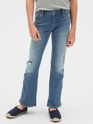 Gap Kids Destructed Boot Jeans with Stretch