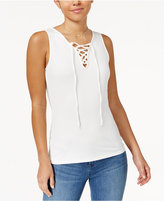 Ultra Flirt Juniors' Lace-Up Tank Top