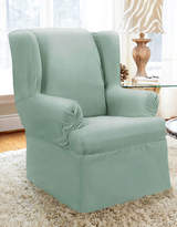 Surefit Twill Wrap Style Wing Chair Slipcover