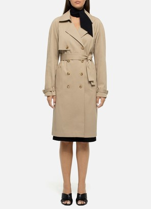 St. John Luxe Twill Stretch Trench Coat