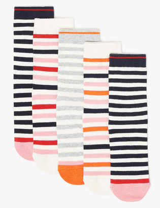 Marks and Spencer 5 Pack of Cotton Rich Striped Socks