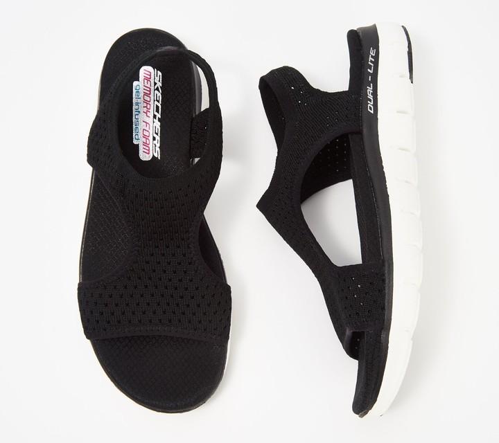 Skechers Knit Cutout Sport Sandals - Deja Vu