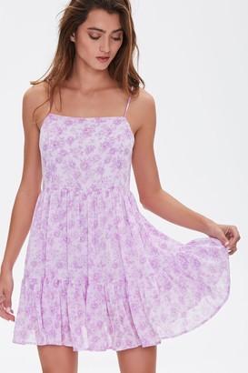 Forever 21 Floral Print Mini Cami Dress