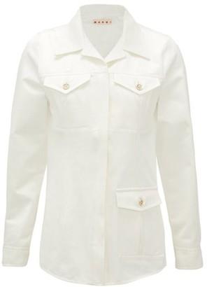 Marni Cuban-collar Cotton Safari Jacket - Cream