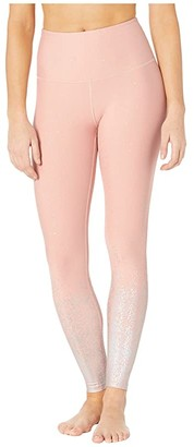 Beyond Yoga Alloy Ombre High Waisted Midi Leggings (Black Foil Speckle) Women's Casual Pants
