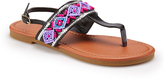 Black & Silver Bead & Sequin Sandal