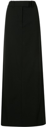 Vera Wang High-Rise Maxi Skirt