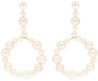 Lele Sadoughi Exclusive to Mytheresa Pearl drop hoop earrings