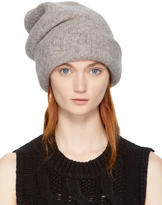 LAUREN MANOOGIAN Grey Alpaca Carpenter Beanie