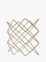 John Lewis Wire Wine Rack, 9 Bottle, Gold