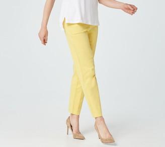 Denim & Co. Original Waist Stretch Petite Side Pocket Pants- Seasonal