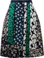 Oscar de la Renta Patchwork Skirt