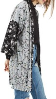 Topshop Women's Print Plisse Kimono