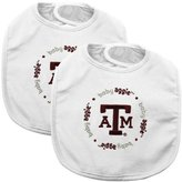 Baby Fanatic Team Color Bibs, Texas A and M, 2-Count