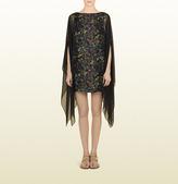 Gucci Flower Print Silk Georgette Kaftan Dress