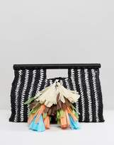 Asos BEACH Wrap Handle Grab Clutch Bag