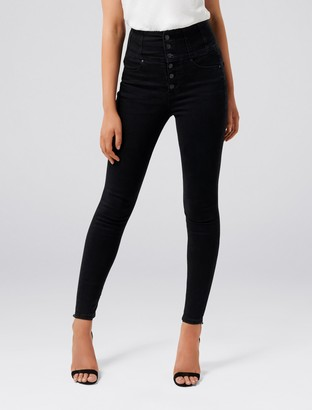 Forever New Sophie High-Rise Sculpting Jeans - Black - 4