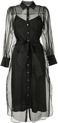 Cinq à Sept Sheer Shirt Dress