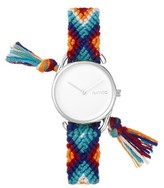 RumbaTime Rumba Time Jane Action Against Hunger Cotton Band Watch - Silver