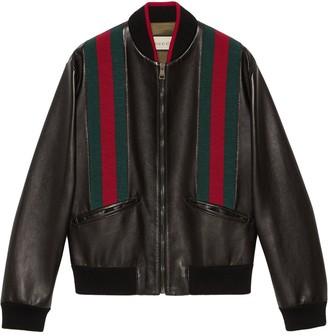Gucci Web stripe bomber jacket