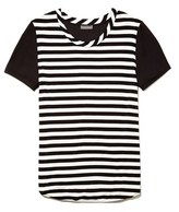 Vince Camuto Stripe Front Mixed Media Tee