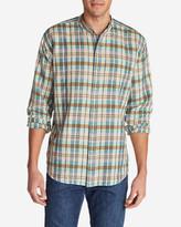 Eddie Bauer Men's Linen/Cotton Banded Collar Shirt