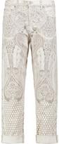 Roberto Cavalli High-Rise Printed Straight-Leg Pants