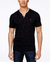 INC International Concepts Speckled Henley Shirt, Created for Macy's