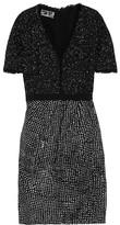 Giambattista Valli Bouclé-tweed and linen dress